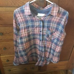 Anthropology rails plaid shirt